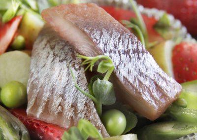 Jordbær & Champagne sild med nye kartofler