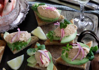 Sprødt sandwichbrød med Smørbar Skaldyr og avocado
